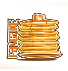 logo for pancake vector image