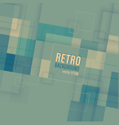 retro background with square transparent pattern vector image