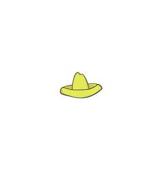 sombrero cartoon icon vector image vector image