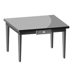 Table icon gray monochrome style vector image vector image