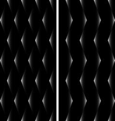 2 Seamless Patterns Rhombuses EPS10 vector image