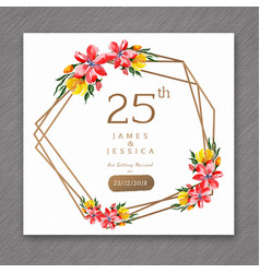 25 watercolor wedding anniversary floral frame vector