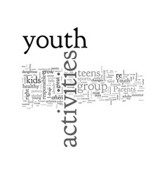 Activities for youth vector