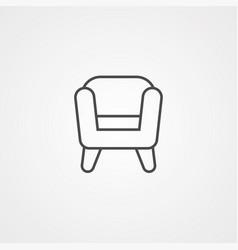armchair icon sign symbol vector image