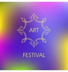 Art festival logo vector image