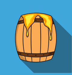 barrel of honey icon in flat style isolated on vector image