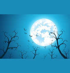 Blue background and festival halloween vector