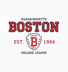 boston massachusetts t-shirt typography graphics vector image