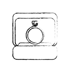 box ring wedding image sketch vector image