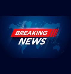 breaking news interface screen design vector image