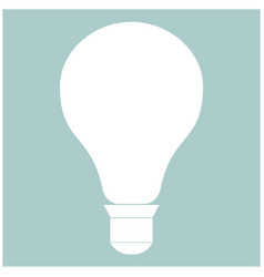 bulb the white color icon vector image