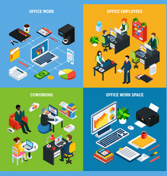 Business isometric design concept vector