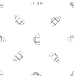 camp thermos icon outline style vector image