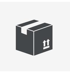 Carton package box icon vector