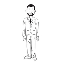 Cartoon man business elegant manager vector