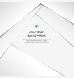 Clear white paper cut background vector