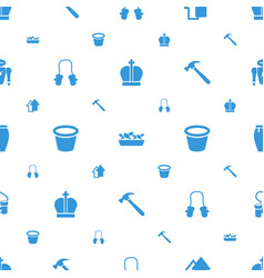 Collection icons pattern seamless white background vector