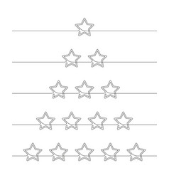 continuous line drawing five stars customer vector image