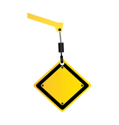 Crane hook holding tools blank warnings image vector