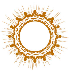 Crown thorns easter religious symbol of vector