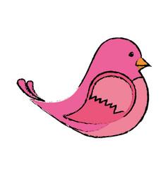 Cute bird icon vector