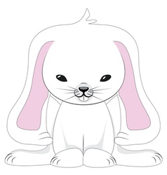 Cute White Rabbit2 vector