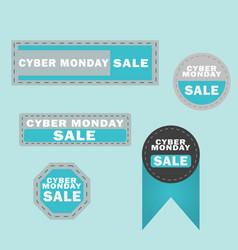 cyber monday sale design elements cyber monday vector image