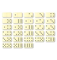 Dominoes set vector