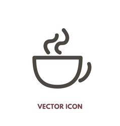doodle cup icon vector image