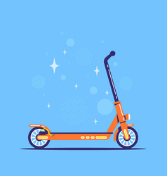 electric push scooter icon flat style vector image