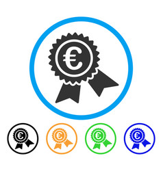 european guarantee seal rounded icon vector image vector image