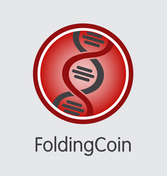 Foldingcoin digital currency coin vector