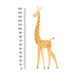 Funny giraffe cheerful funny giraffe with long vector