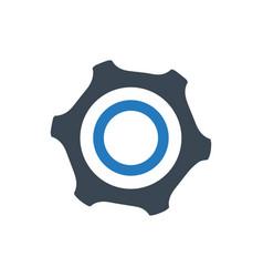 Gears configuration icon vector