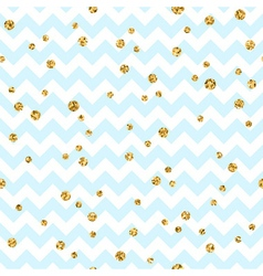 Golden polka dot seamless pattern Gold confetti vector