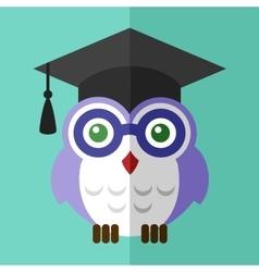 Graduation owl student icon flat sign symbol logo vector