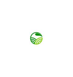 green leaf organic emblem logo vector image