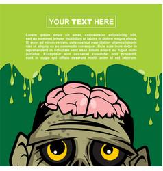 Halloween background design - big sad zombie vector
