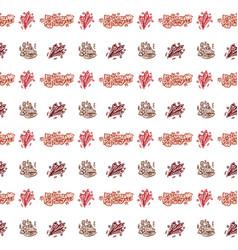 happy birthday hand drawn pattern background vector image