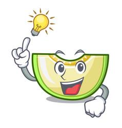 Have an idea cartoon sliced fresh melon green vector