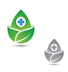 health three leaf vector image