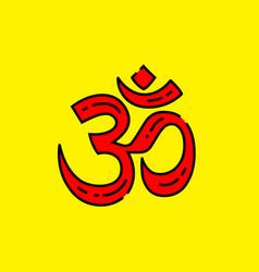 hinduism symbol vector image