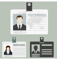 Id card set vector
