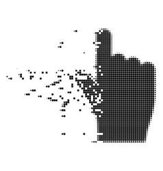 Index finger dissolving pixel icon vector