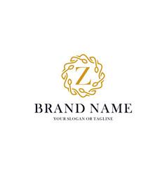 Initial letter z luxury ornament logo design vector