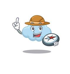 Mascot design concept blue cloud explorer with vector