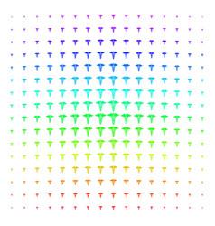 medical caduceus emblem icon halftone spectral vector image