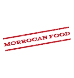 Morrocan Food Watermark Stamp vector