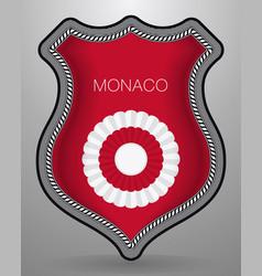 National symbols monaco cockade with country vector