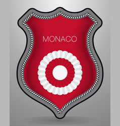 National symbols of monaco cockade with country vector